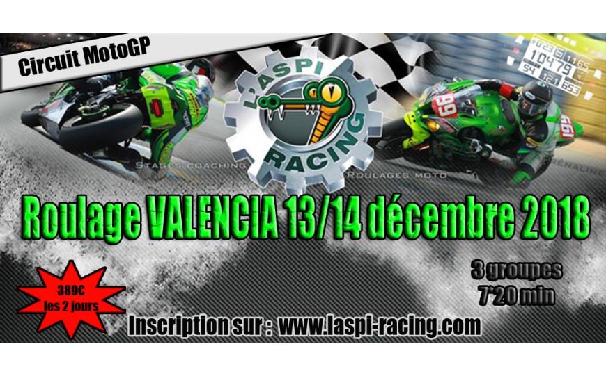Roulage VALENCIA circuit de moto GP